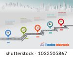 business road map timeline... | Shutterstock .eps vector #1032505867