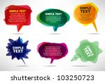 set of colorful bubbles | Shutterstock .eps vector #103250723