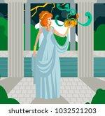 pandora opening the box | Shutterstock .eps vector #1032521203