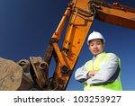 Portrait Operator Of Excavator...