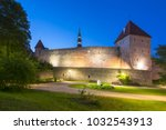 walls and towers of tallinn old ... | Shutterstock . vector #1032543913