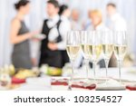 aperitif champagne for business ... | Shutterstock . vector #103254527
