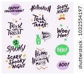 vector collection of halloween... | Shutterstock .eps vector #1032554197
