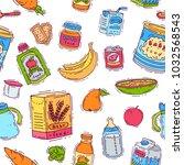 baby food vector child healthy... | Shutterstock .eps vector #1032568543
