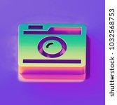 icon of yellow green instagram... | Shutterstock . vector #1032568753