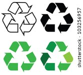 Recycle Sign In Different...