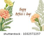 template for mother's day ... | Shutterstock .eps vector #1032572257
