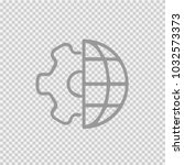 globe and gear vector icon eps... | Shutterstock .eps vector #1032573373