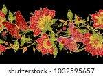 seamless pattern. golden... | Shutterstock . vector #1032595657