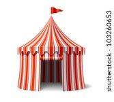 circus tent. vector. | Shutterstock .eps vector #103260653
