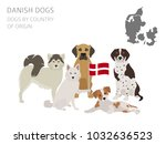 dogs by country of origin.... | Shutterstock .eps vector #1032636523