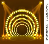 show light podium yellow... | Shutterstock .eps vector #1032640993