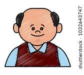 cute grandfather cartoon | Shutterstock .eps vector #1032643747