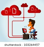 Cloud Computing. Vector - stock vector