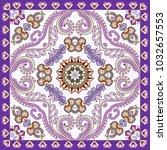 bandanna with curls  decorative ... | Shutterstock .eps vector #1032657553