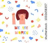 girl power vector illustration... | Shutterstock .eps vector #1032658357