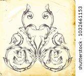 retro baroque decorations... | Shutterstock .eps vector #1032661153