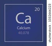 calcium ca chemical element... | Shutterstock .eps vector #1032666223