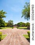 khmer architecture in phimai... | Shutterstock . vector #103266983