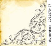 retro baroque decorations... | Shutterstock .eps vector #1032670477