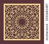 laser cutting panel. golden... | Shutterstock .eps vector #1032681487