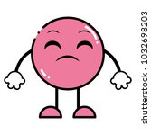 color disappointed emoji... | Shutterstock .eps vector #1032698203