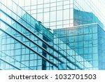 modern building glass facade... | Shutterstock . vector #1032701503