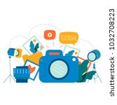 photography classes ... | Shutterstock .eps vector #1032708223