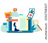 education  online training... | Shutterstock .eps vector #1032708337