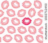 female contrast lipstick kiss...   Shutterstock .eps vector #1032712453