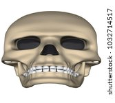 deformed human skull in cartoon ... | Shutterstock .eps vector #1032714517