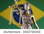 symbol of law and justice with... | Shutterstock . vector #1032720103