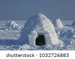 winter dwelling of eskimos.... | Shutterstock . vector #1032726883