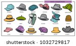 woman and man hats models... | Shutterstock .eps vector #1032729817