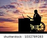 silhouette of a man a... | Shutterstock . vector #1032789283