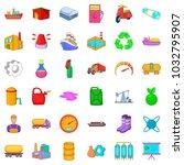 petroleum industry icons set....   Shutterstock .eps vector #1032795907