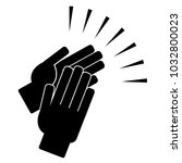 clapping hands on a white... | Shutterstock .eps vector #1032800023