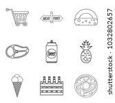 gastronomy market icons set.... | Shutterstock .eps vector #1032802657