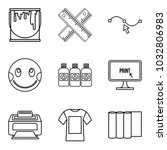 pupil icons set. outline set of ... | Shutterstock .eps vector #1032806983