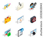 statistical information icons... | Shutterstock .eps vector #1032810043