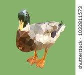 polygonal mallard  geometric... | Shutterstock .eps vector #1032811573