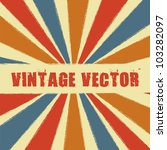 vintage with stripes. vector... | Shutterstock .eps vector #103282097