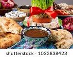 traditional azerbaijan sweet... | Shutterstock . vector #1032838423