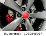 close up of a modern sport wheel   Shutterstock . vector #1032845017