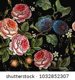 Embroidery Plums And Roses...