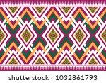 geometric ethnic pattern... | Shutterstock .eps vector #1032861793