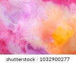 hand drawn watercolor texture. | Shutterstock . vector #1032900277
