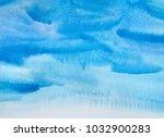 hand drawn watercolor texture. | Shutterstock . vector #1032900283