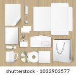 blank corporate identity mock... | Shutterstock .eps vector #1032903577