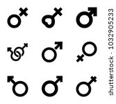 sexual icons. set of 9 editable ... | Shutterstock .eps vector #1032905233